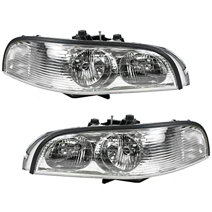 Headlights Headlamps Left Right Pair Set For 97 05 Buick Park Avenue