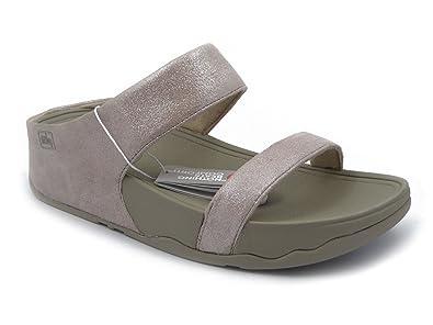 Pelle Ciabattina Donna Fitflop Camoscio Sandalo Metallizzato E In wqFBg8