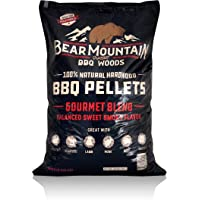 Bear Mountain BBQ 100% All-Natural Hardwood Pellets - Gourmet Blend (20 lb. Bag) Perfect for Pellet Smokers, or Any Outdoor Grill   Rich, Smoky Wood-Fired Flavor