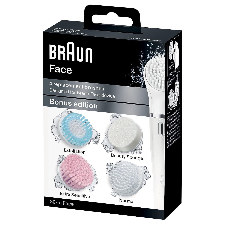 Braun Face Cepillos de recambio para dispositivo de limpieza facial cepillos