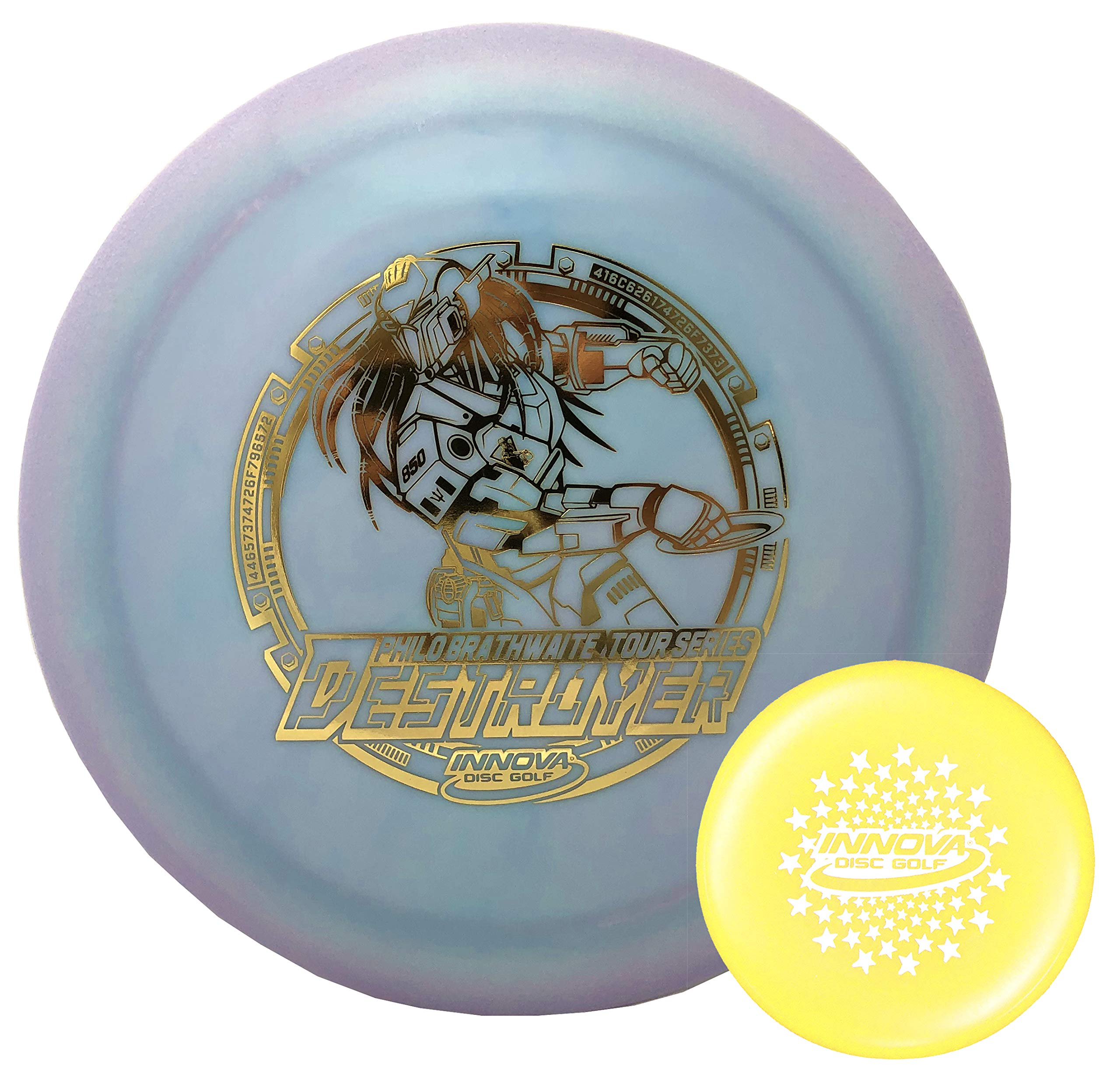 Innova Disc Golf Driver Star Color Glow Destroyer Philo Brathwaite Limited Edition 2019 Tour Series with Limited Edition Stars Stamp Innova Mini 165-169g Colors Will Vary by Innova Disc