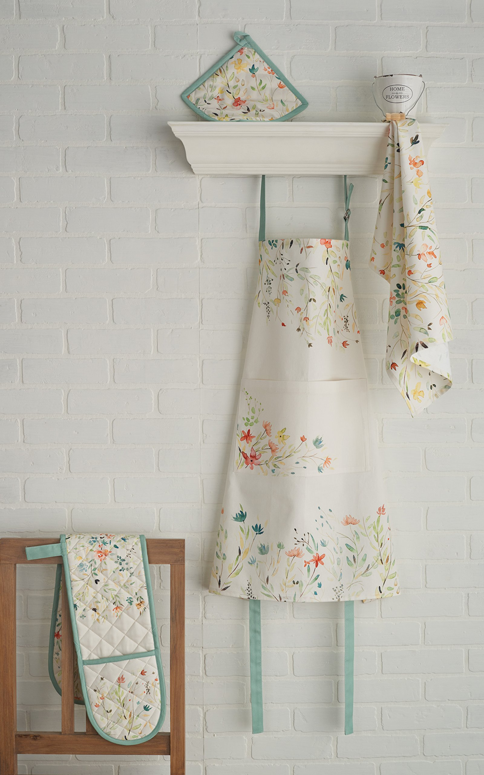 Maison d' Hermine Colmar 100% Cotton Apron with an adjustable neck & visible center pocket , 27.50 - inch by 31.50 - inch by Maison d' Hermine (Image #3)