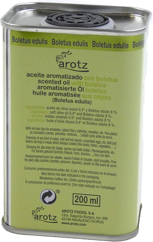 AROTZ Aceite de oliva aroma de boletus edulis - 200 ml: Amazon.es: Alimentación y bebidas