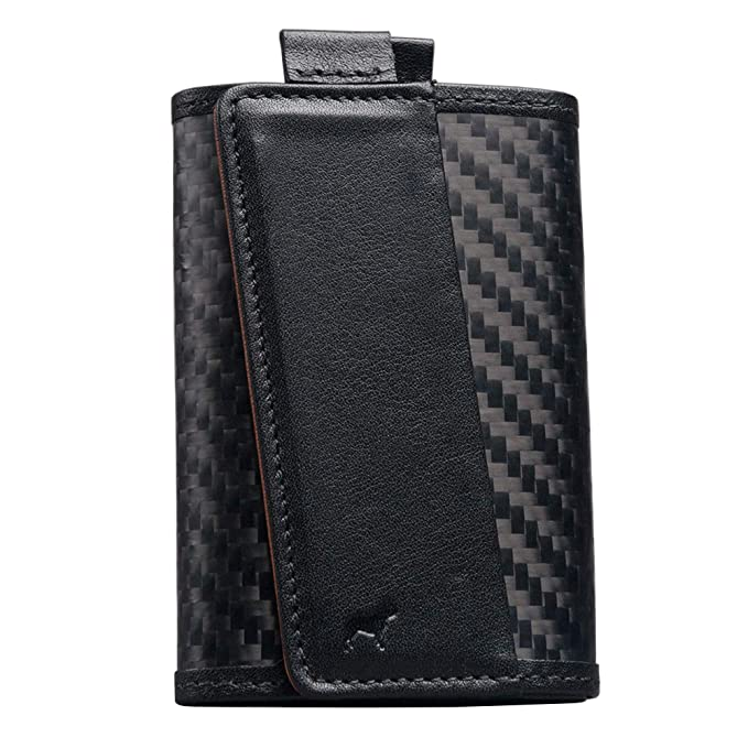 f3f8de11fcf The Frenchie Co. CX6 Carbon Fiber Ultra Slim Speed Wallet for Men with RFID  Blocking and Super Fast Card Holder Access
