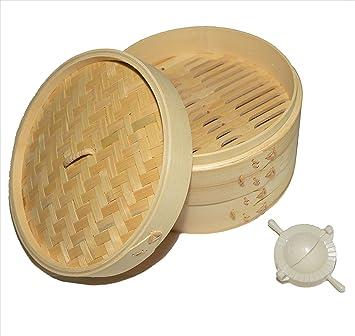 Amazon De 100 Naturliche Traditionellen Bambus Dampfgarer Mit 20