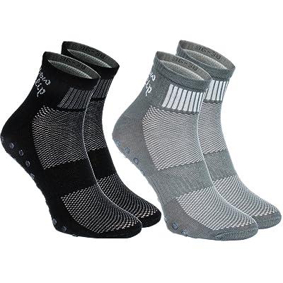 2 pairs of Colorful Non-slip Socks ABS SPORT Yoga Dance Gymnastics Trampolines M