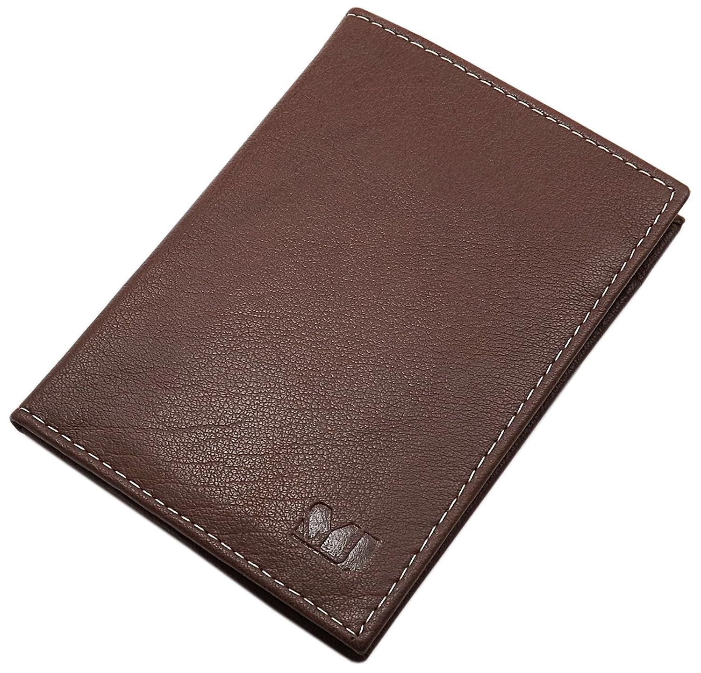Pochette de carte d'identité en cuir de buffle MJ-Design-Germany en différentes couleurs (Marron)