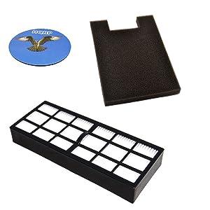 HQRP Filter Kit for Eureka Altima 2950AV, 2961AVZ, 2961BVZ, 2961TUR, 2991AVZ, 2993AV, 2996AVZ, 2996BVZ, 2996DVZ Upright Vacuum Cleaner Coaster