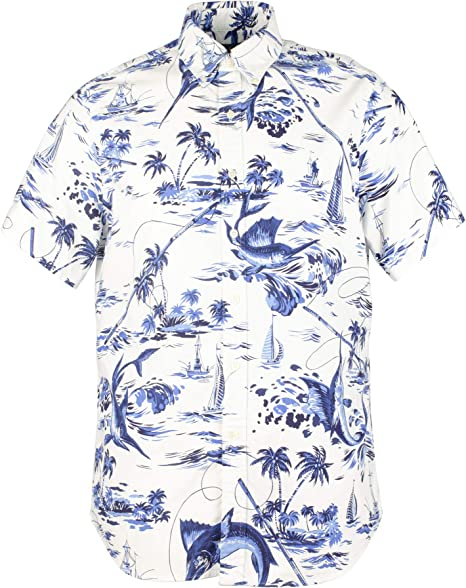 Polo Ralph Lauren Mens Big /& Tall Hawaiian Print Short Sleeve Camp Shirt