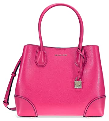 Women s Accessories Michael Kors Mercer Corner Ultra Pink Medium Tote Bag  Spring Summer 2018 204ad837b8aa0