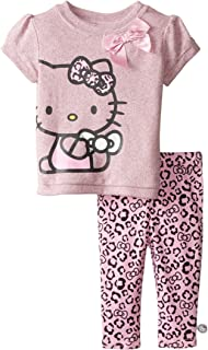Hello Kitty Baby Girls 2 Piece T-shirt and Legging Set