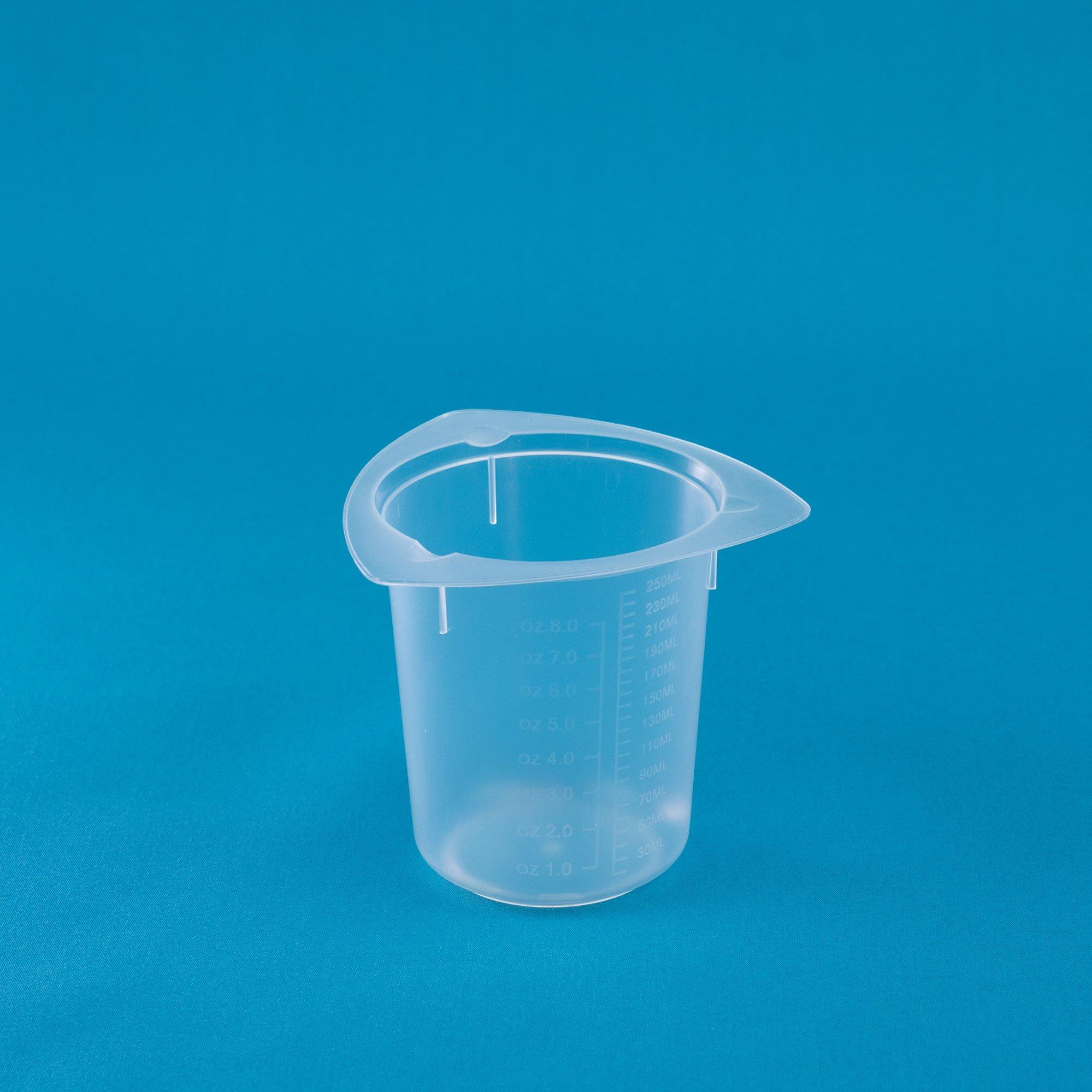 United Scientific BTC0250 Polypropylene Tri-Corner Beaker, 250ml Capacity, 20ml Graduation Interval (Case of 100)
