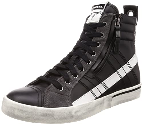 wholesale dealer 5ba1c 697b5 DIESEL, Uomo, D Velows Mid Lace, Pelle, Sneakers, Nero