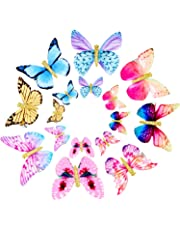 Gejoy 16 Pieces Butterfly Clips Baby Hair Clips Butterfly Glitter Barrette for Women Girl and Infant, 8 Styles