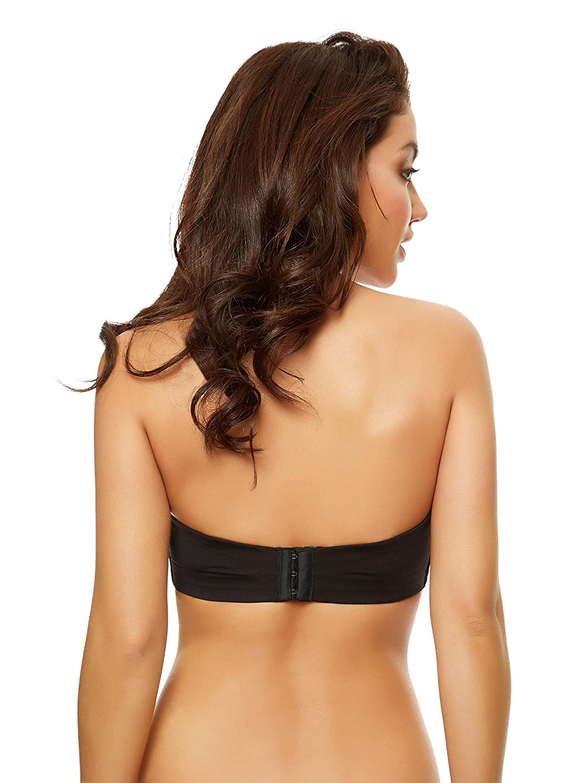 440aa74e0b22b Ann Summers Womens Delilah Strapless DD Plus Bra Padded Sexy Lingerie  Underwear Black 34F  Amazon.co.uk  Clothing