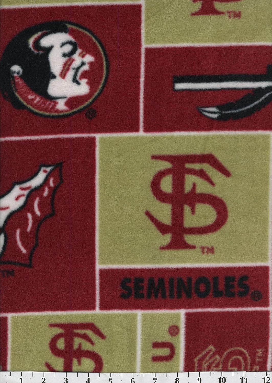 College Florida State University Seminoles 012 Fleece Fabric Print By the Yard