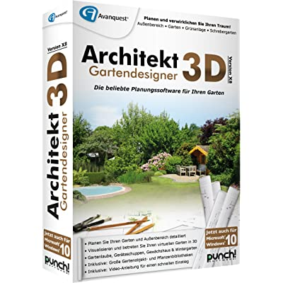 Avanquest Software Architekt 3D X8 Gartendesigner