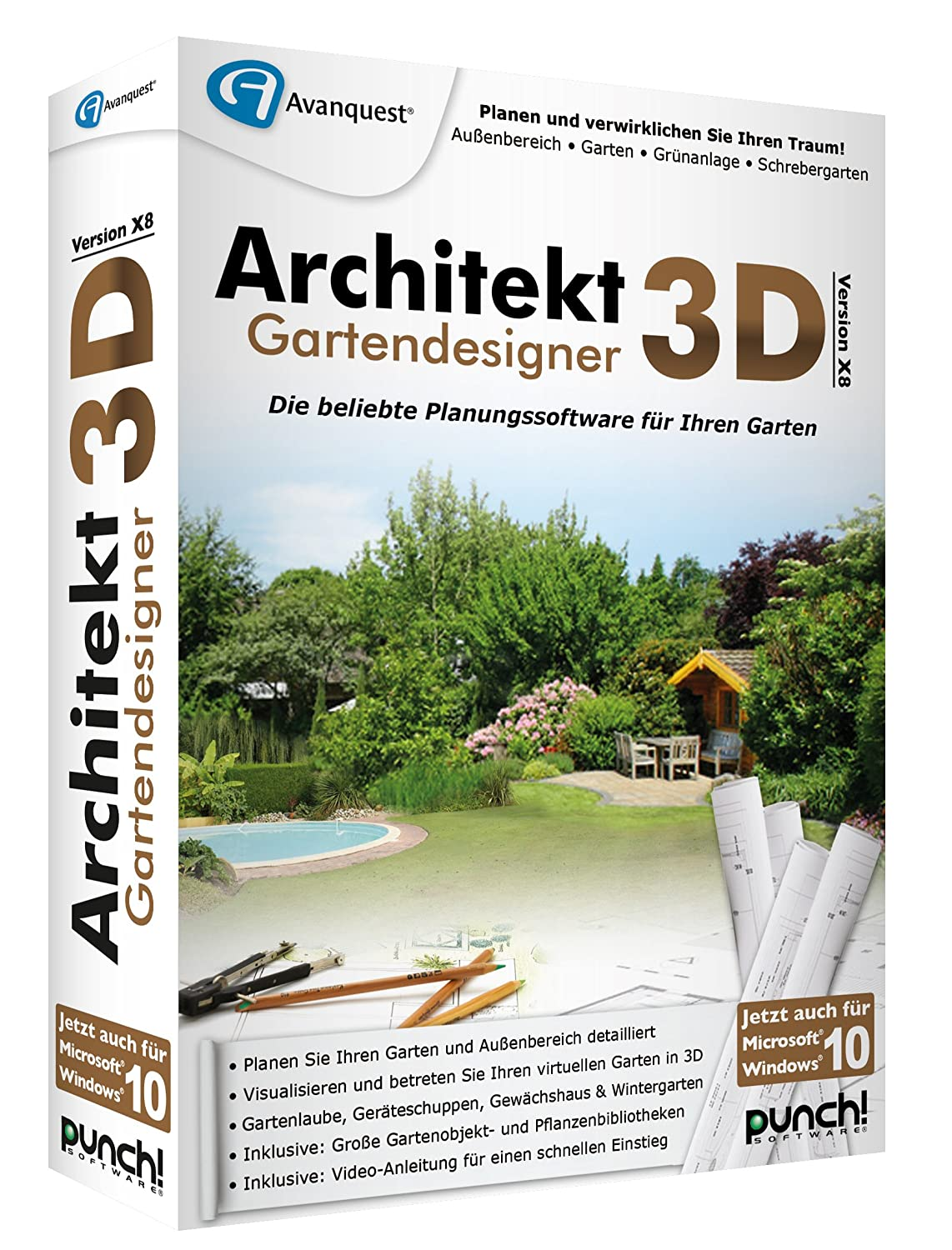 Architekt 3D X8 Gartendesigner: Amazon.de: Software