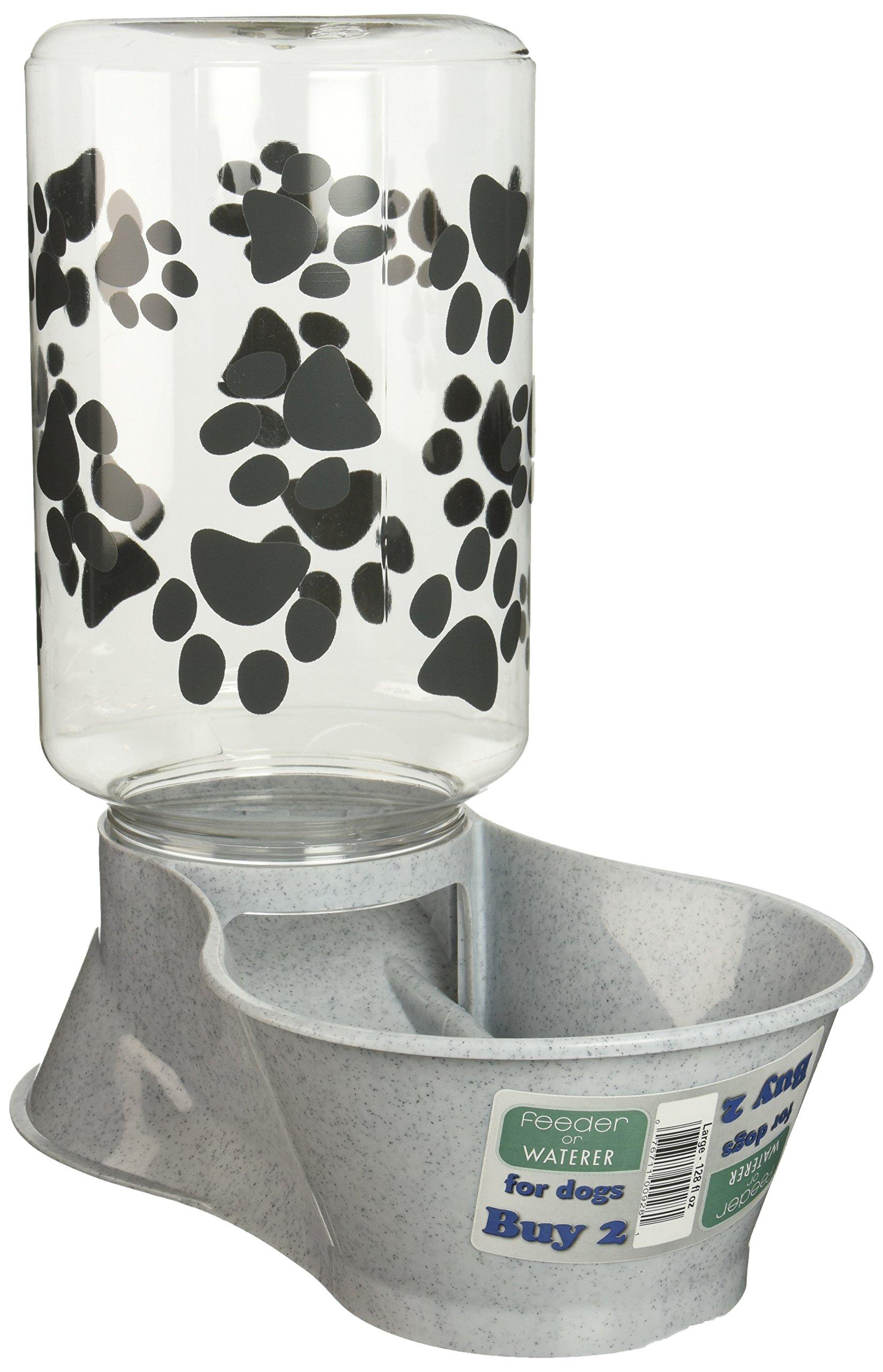 Lixit Animal Care Dog Feeder/Fountain Reversible Base, 128-Ounce