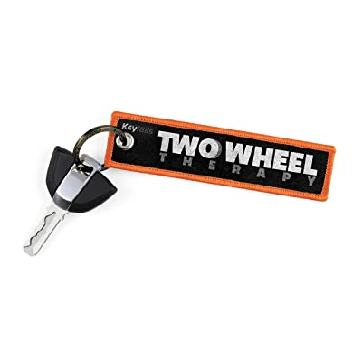 KEYTAILS Keychains, Premium Quality Key Tag for Motorcycle, Scooter, ATV, UTV [Two Wheel Therapy]: Automotive