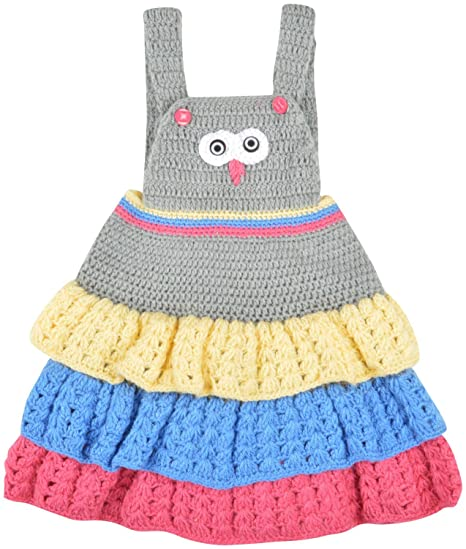 fb6036c8c Kuchipoo Baby Girls  Woolen Dress (KUC-WOL-107 Multicolor 1 - 2 ...