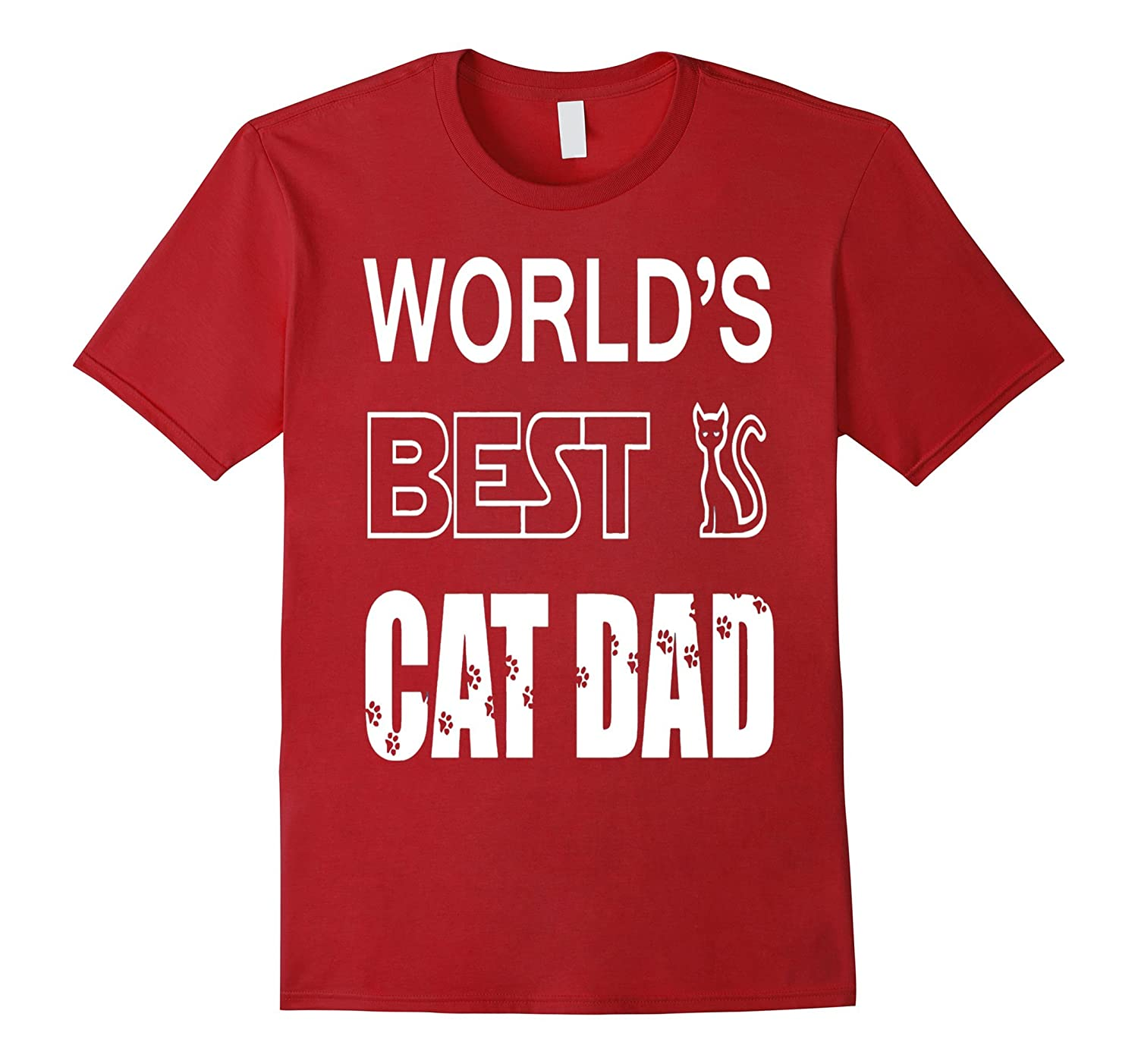 2528aafd Mens Worlds Best Cat Dad – Pet Lovers Fathers Day Gift T–TD – Teedep