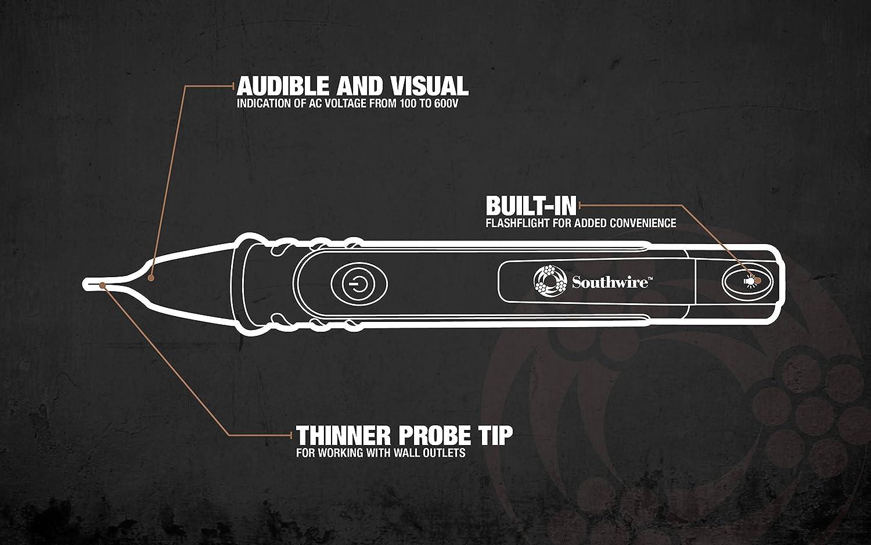 Southwire Tools 40116N NCV Detector 100-600V AC - - Amazon.com