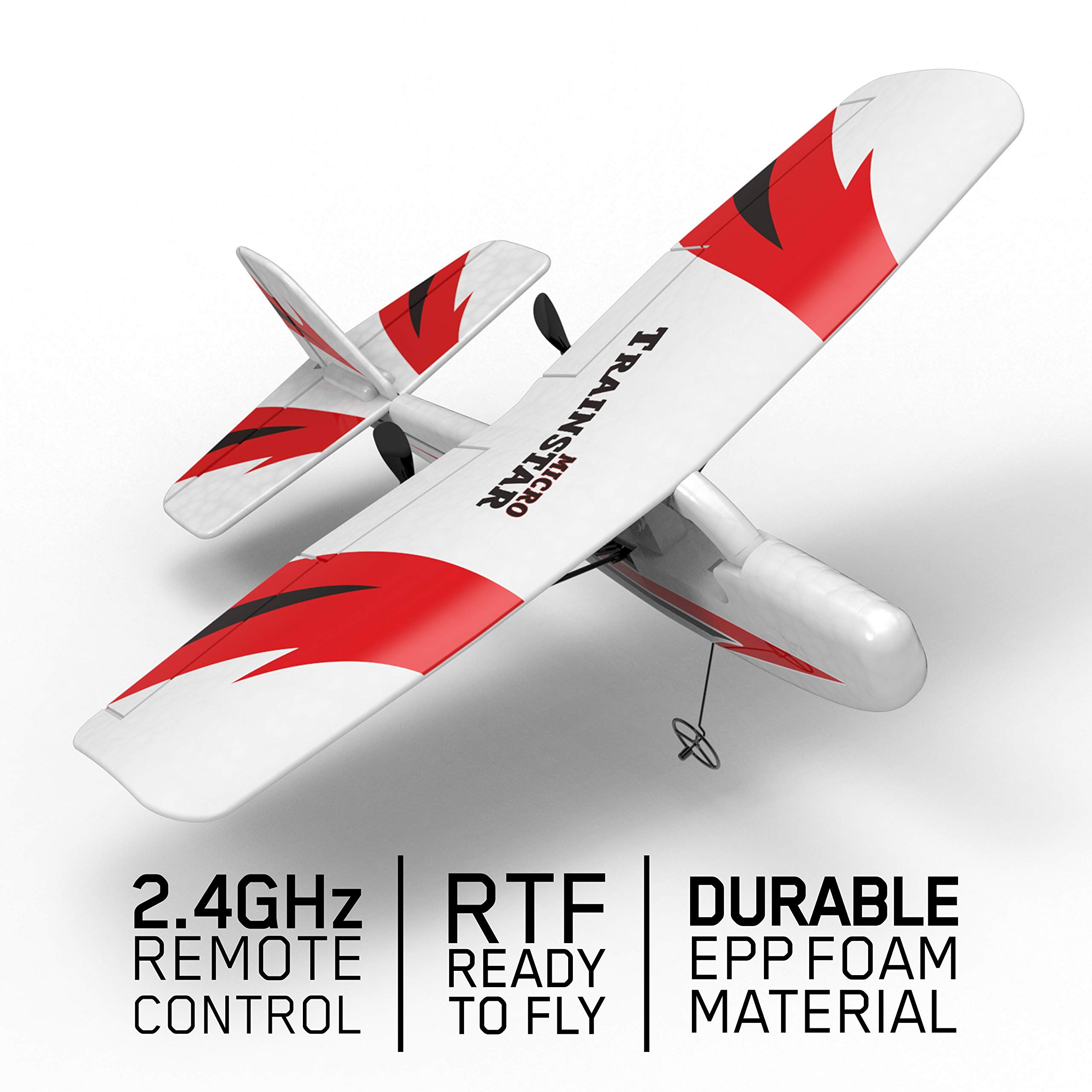 VOLANTEXRC Remote Control Airplane Traninstar Micro 2.4GHz RC Aircraft RTF Ready to Fly Indoor Outdoor Good for Kids Adluts (781-2)
