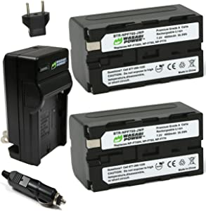 Wasabi Power Battery (2-Pack) and Charger for Sony NP-F730, NP-F750, NP-F760, NP-F770 (L Series)