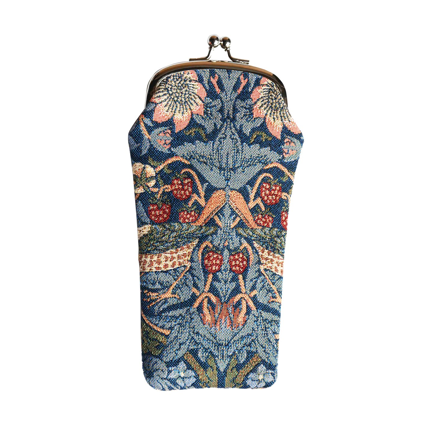 Signare Tapestry Eyeglasses Pouch Sunglasses Bag Spectacle Pouch by Designer William Morris Golden Lily (GPCH-GLILY)