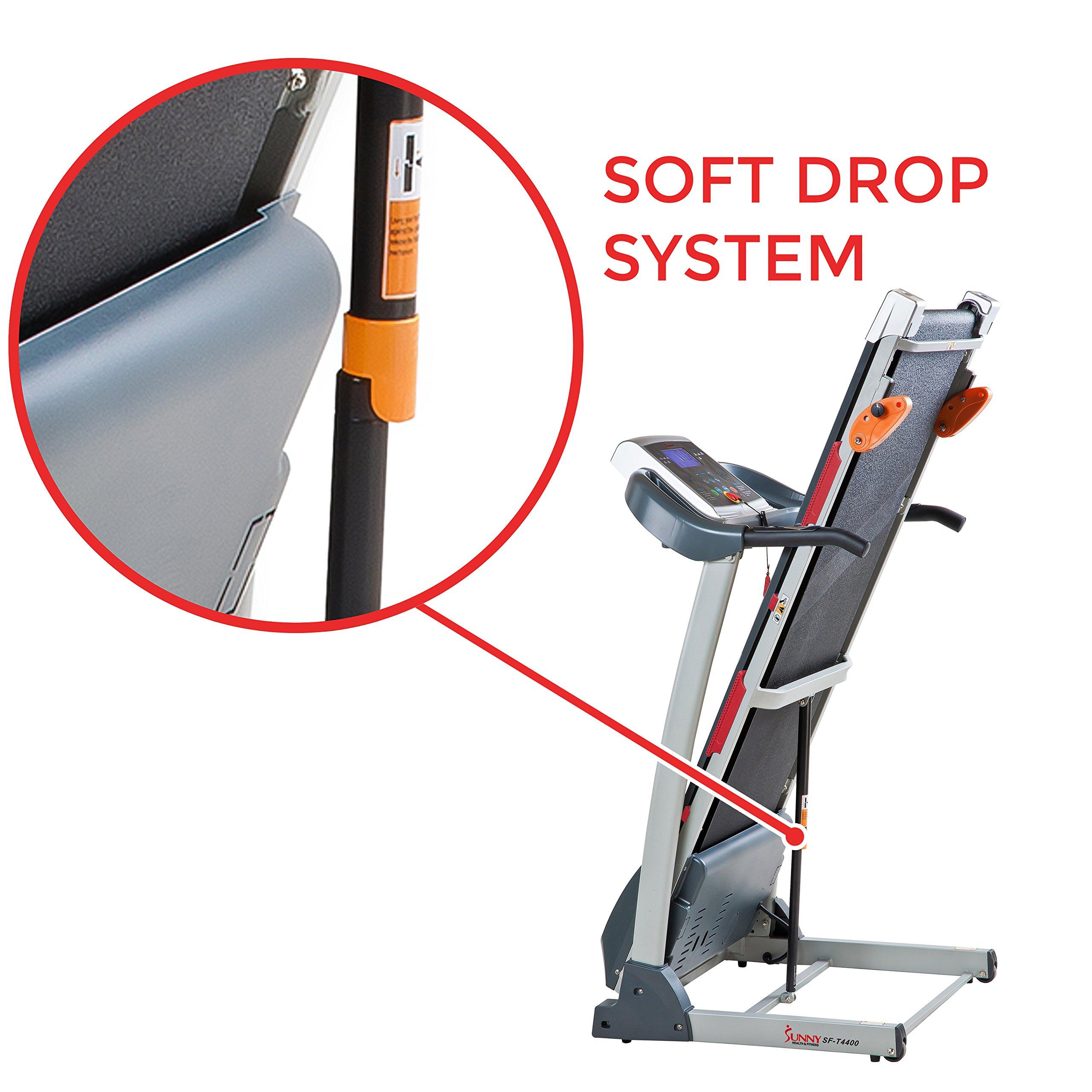 Sunny Health & Fitness Treadmill Folding Motorized Running Machine by Sunny Health & Fitness (Image #6)