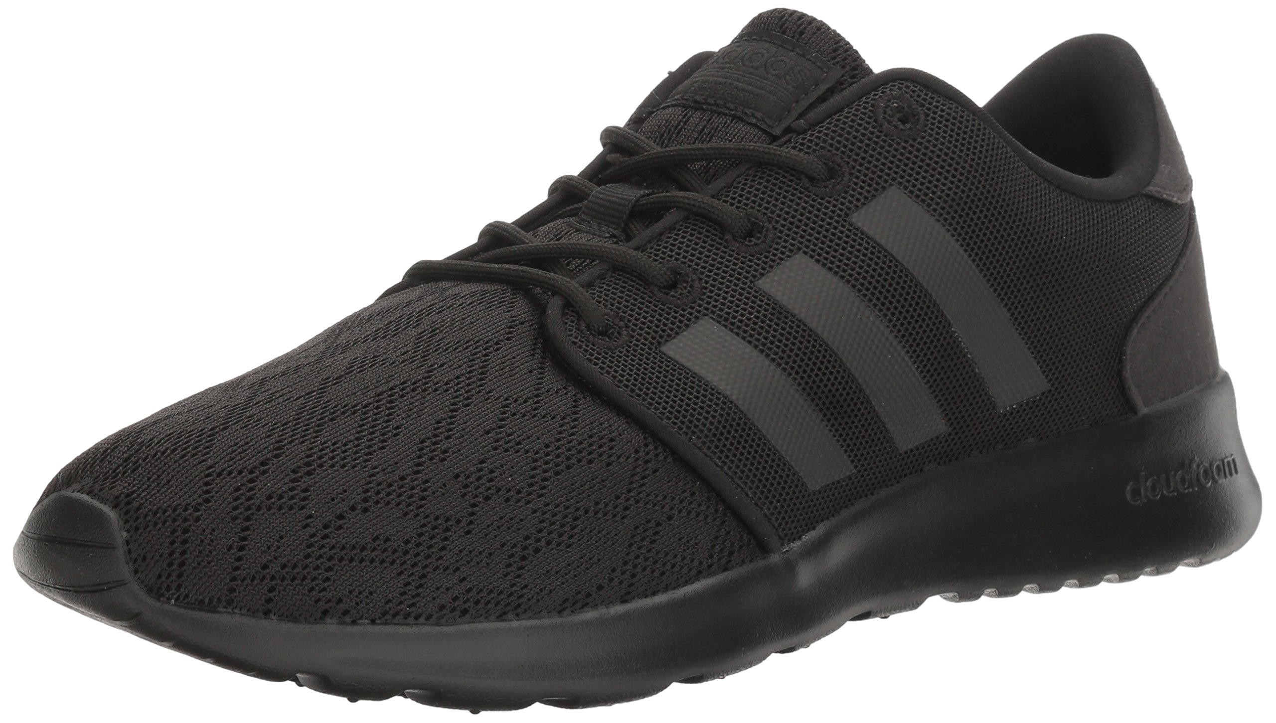 adidas NEO Women's Cloudfoam QT Racer W Running Shoe, Black/Black/White, 7.5 Medium US