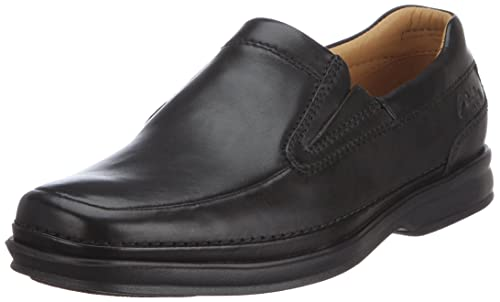 f2faa27e991a7 Clarks Men s Scopic Fall Slip-Ons 203484808 Black Leather 6.5 UK ...