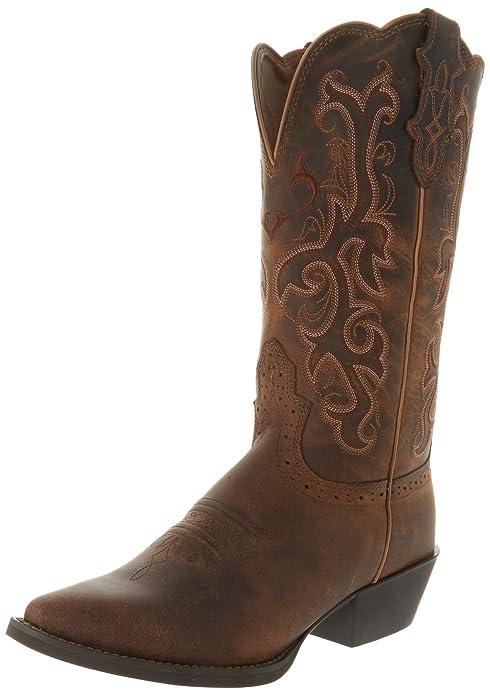 d5c5fc1c4b8 Amazon.com   Justin Boots Women's Stampede Western Boot   Mid-Calf