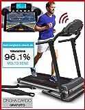 Tapis roulant Sportstech F10 con App controllo Smartphone, cintura di impulsonel valore di 39,90 € inclusasa, Bluetooth, 1HP, 10KM/H, camminare e correre con 13 programmi – compatto e facile