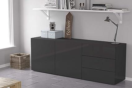 Amazon.com: Furniture.Agency 3 cajones 2 armarios aparador ...