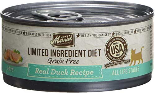Merrick Limited Ingredient Diet Grain Free Real Duck Pate Canned Cat Food 5 Oz X 24 Cans
