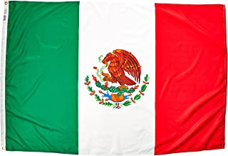 product image for Annin Flagmakers Model 195709 Mexico Flag Nylon SolarGuard NYL-Glo, 4x6 ft, 100% Made in USA to Official United Nations Design Specifications