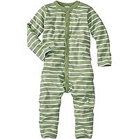 WELLYOU Pijamas para bebés y niños, Pijamas de una Pieza 100% Hecho de algodón, Color Verde con Rayas Blancas. Tallas 56…