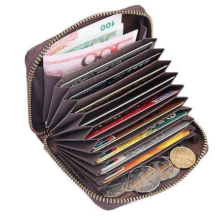 l'ultimo ebd0a b8970 Portafogli Uomo Porta Carte Credito Portamonete con cerniera in pelle RFID  Portafoglio portamonete con portamonete Alta qualità in vera pelle Porta ...