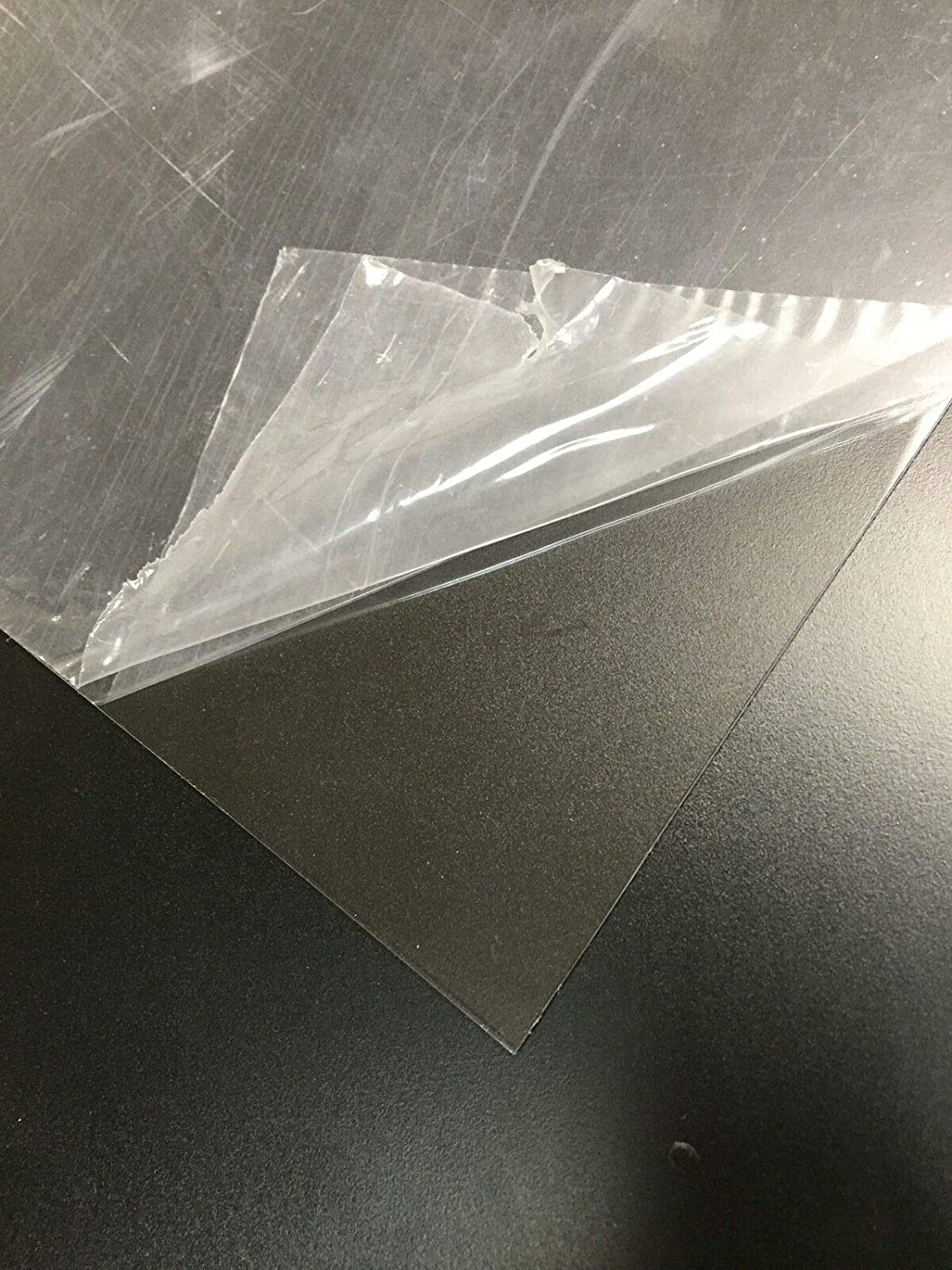 """0.063/"""" Thick 24/"""" W Polymershapes 1Utp2 Clear Petg Sheet Stock 24/"""" L"""