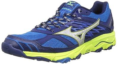 Mizuno Wave Mujin, Chaussures de Running Homme, Multicolore (Grenadine/Blanzingyellow/Redorange), 44 EU
