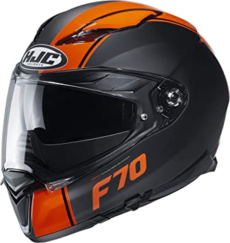 Hjc Helmets Herren Nc Motorrad Helm Schwarz Orange L Auto