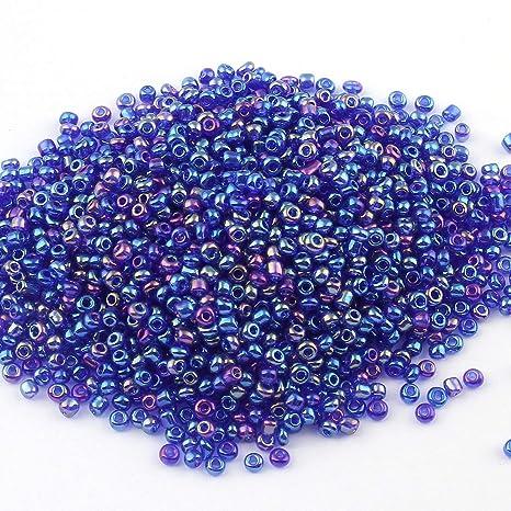 Rocailles Perlen 2mm 11//0 450g Topas Braun Silbereinzug Glasperlen Schmuck A23