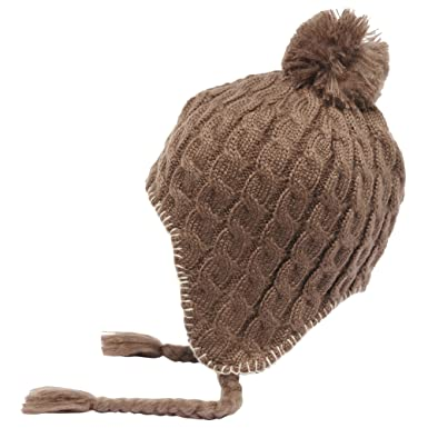 b2b83a58d89 Regatta Great Outdoors Womens Ladies Lofthead Knitted Peruvian Bobble Hat  (One Size) (Coconut)  Amazon.co.uk  Clothing