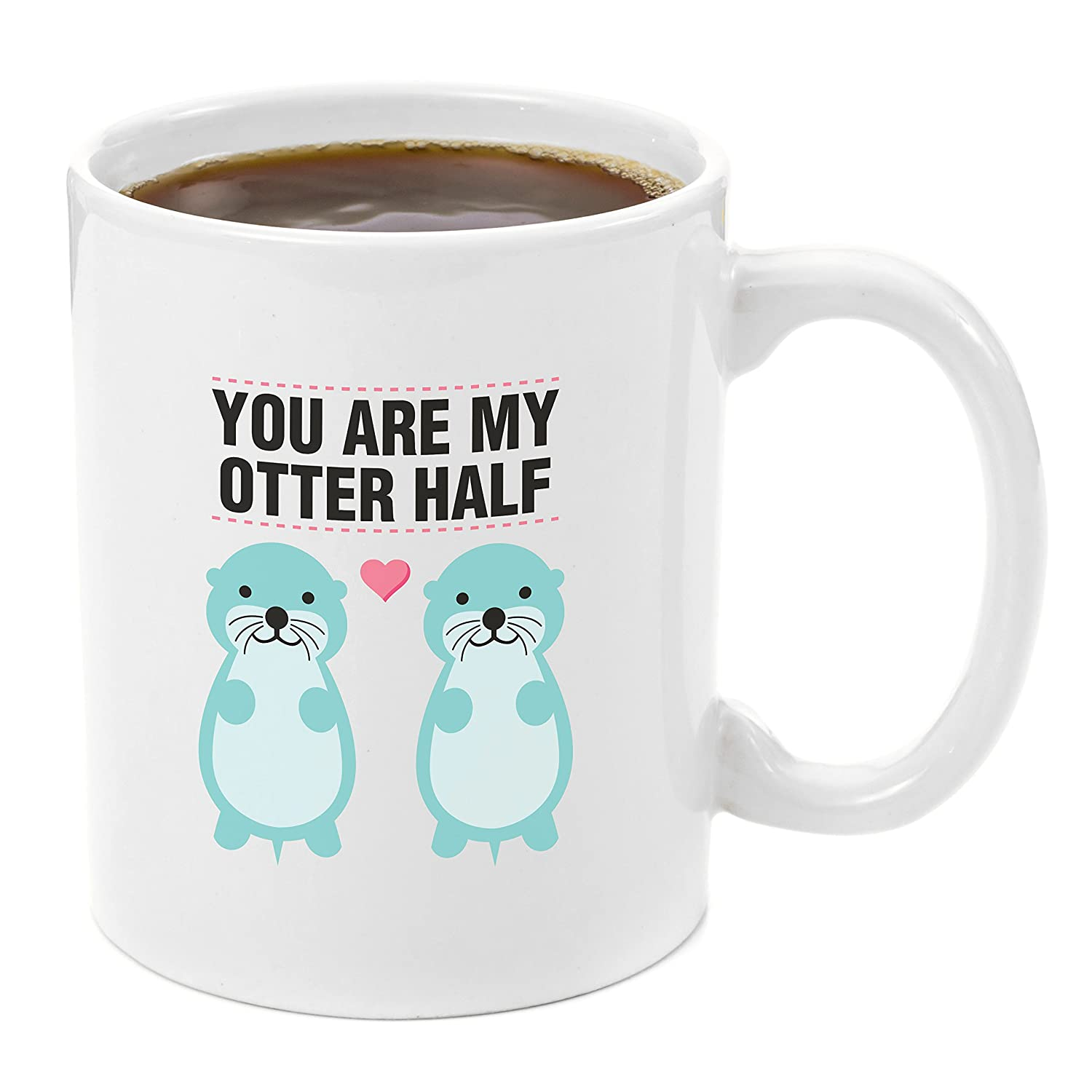Amazon.com: Otter Half | Coffee Mug 11oz - Anniversary gifts for Her ...