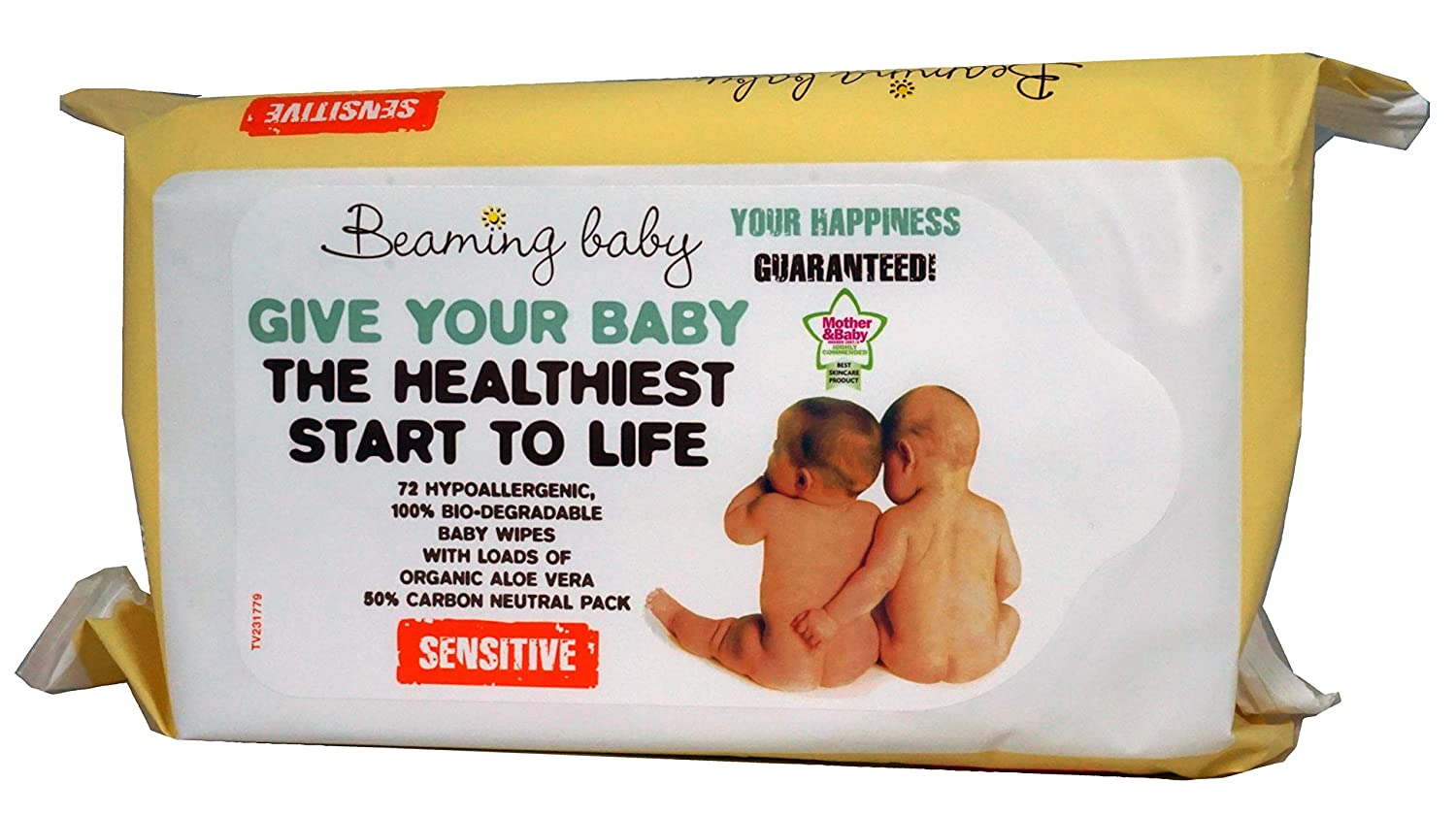 Beaming Baby Organic Baby Skincare Wipes - Pack of 72 Wipes