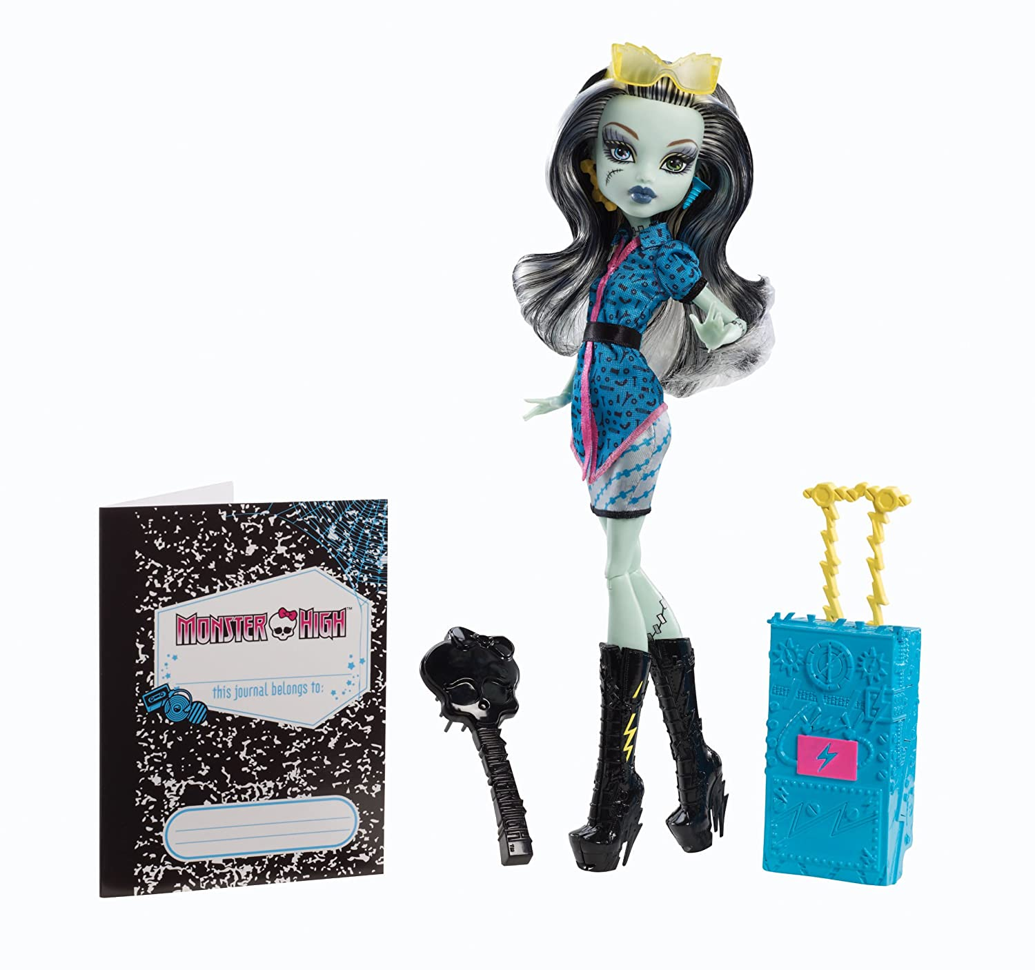 Uncategorized Frankie From Monster High amazon com monster high travel scaris frankie stein doll toys games