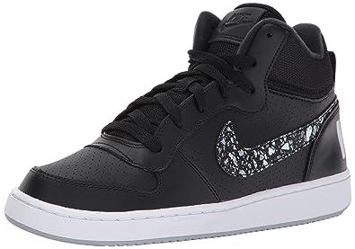 official photos ac947 7fb44 Nike Court Borough Mid Prnt Gs, Chaussures de Gymnastique Fille, Noir  (Black/
