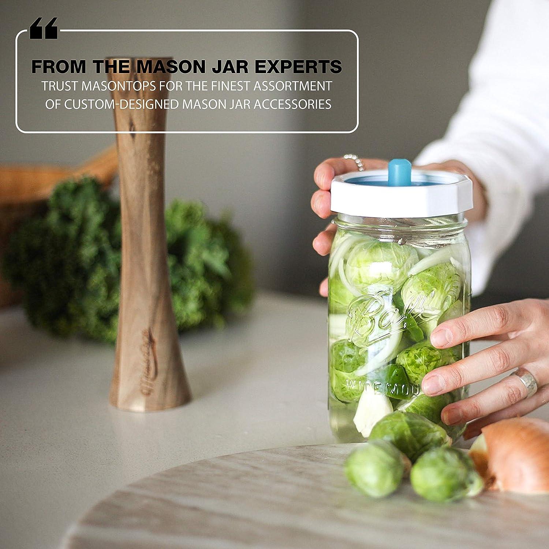 Valvole daria di fermentazione senza acqua Bocca Larga Coperchio per barattolo di fermentazione Masontops Pickle Pipes Coperchio di Silicone Premium